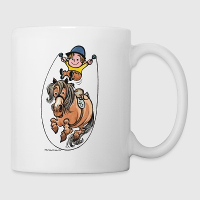 Thelwell Funny Rope Jumping Horse And Rider - Muki