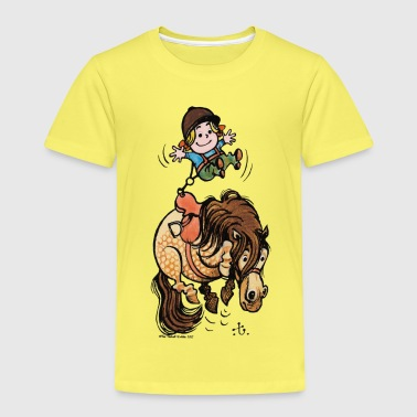 Thelwell Funny Illustration Bucking Horse - Kids' Premium T-Shirt