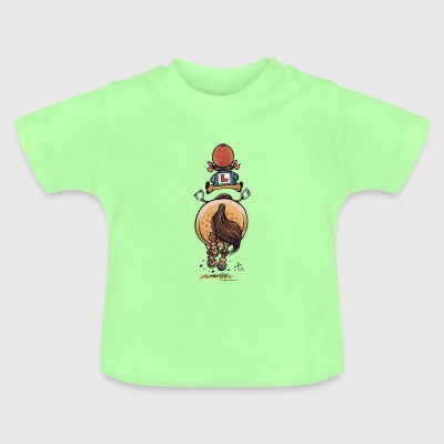 Thelwell Funny Riding Beginner Illustration - Baby T-shirt