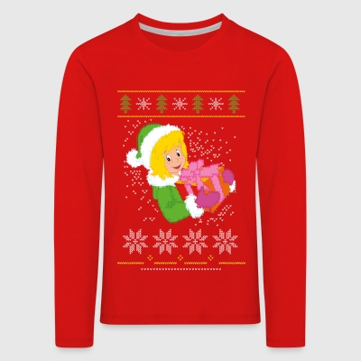 Bibi Blocksberg Ugly Sweater Design - Kinder Premium Langarmshirt