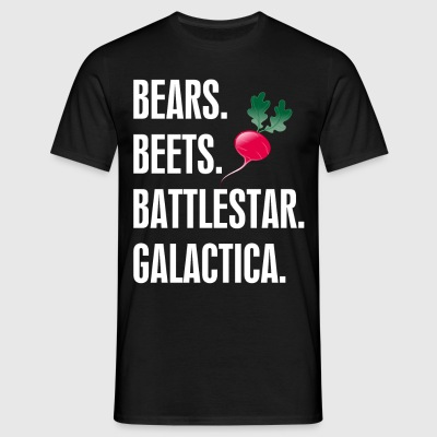 Bears Beets Battlestar Galactica T-Shirts - Men's T-Shirt