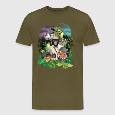 Animal Safari - Men's fit Tee. - Men's Premium T-Shirt