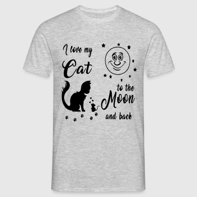 I love my Cat to the Moon and back - Männer T-Shirt