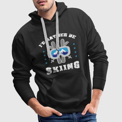 I love skiing ski winter sports gift Hoodies & Sweatshirts - Men's Premium Hoodie