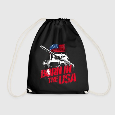 World Of Tanks Blitz Born In The USA Slogan - Drawstring Bag