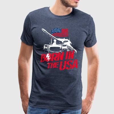 World Of Tanks Blitz Born In The USA Slogan - Miesten premium t-paita