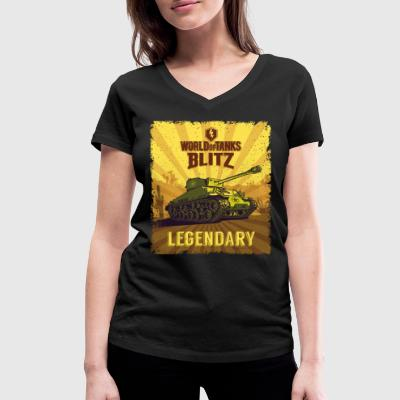World Of Tanks Blitz Legendary Camouflage - Women's Organic V-Neck T-Shirt by Stanley & Stella