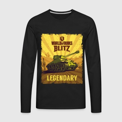 World Of Tanks Blitz Legendary Camouflage - Men's Premium Longsleeve Shirt