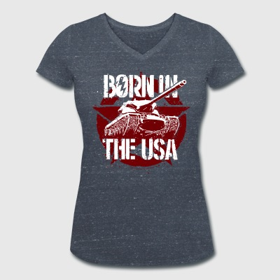 World Of Tanks Blitz Born In The USA Star - T-shirt ecologica da donna con scollo a V di Stanley & Stella