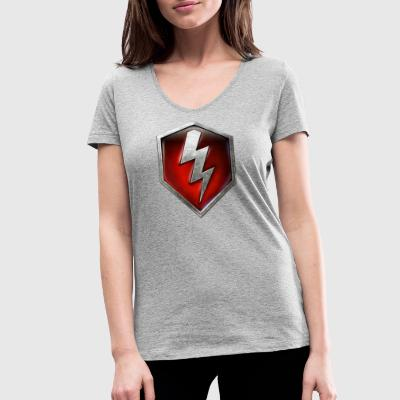 World Of Tanks Blitz Metallic Logo - Women's Organic V-Neck T-Shirt by Stanley & Stella