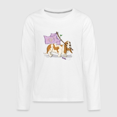 Peace, dog and peace sign Long Sleeve Shirts - Teenagers' Premium Longsleeve Shirt