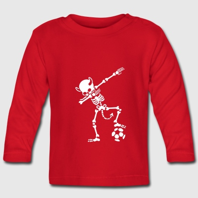 Dab Dabbing Rode Duivels / Diable Rouge soccer Long Sleeve Shirts - Baby Long Sleeve T-Shirt