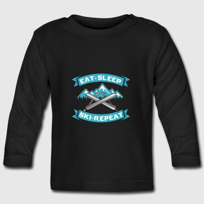 Eat Sleep repeat ski skiers gift Long Sleeve Shirts - Baby Long Sleeve T-Shirt