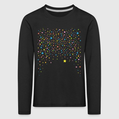 Silvester. Colorful confetti with stars.  Long Sleeve Shirts - Kids' Premium Longsleeve Shirt