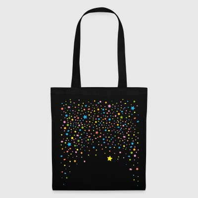 Silvester. Colorful confetti with stars.  Bags & Backpacks - Tote Bag