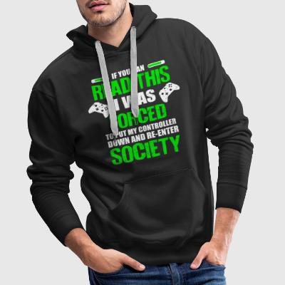 IF YOU CAN READ THIS W WAS Sweat-shirts - Sweat-shirt à capuche Premium pour hommes
