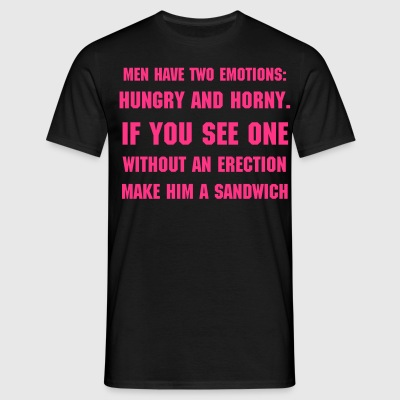 Men: Hungry or Horny - Men's T-Shirt
