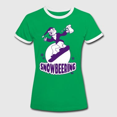 Snowbeering or snowboarding T-Shirts - Women's Ringer T-Shirt