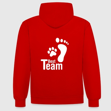 best team  dog Hoodies & Sweatshirts - Contrast Colour Hoodie