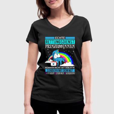 Rescue Princess Unicorn gift T-Shirts - Women's Organic V-Neck T-Shirt by Stanley & Stella