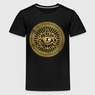 All Seeing Mystic Eye Gold  Shirts - Teenage Premium T-Shirt
