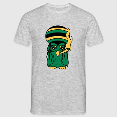 reggae jamaica smoking joint kiffen stinking drugs T-Shirts - Men's T-Shirt