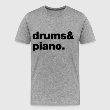 Drums and Piano T-Shirts - Männer Premium T-Shirt