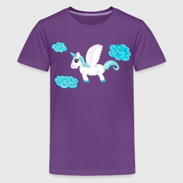 Einhorn Pegasus am Himmel T-Shirts - Teenager Premium T-Shirt