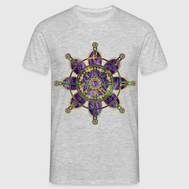 Dharma Wheel  - Dharmachakra T-Shirts - Men's T-Shirt