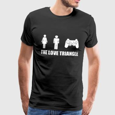 gamer love triangle T-Shirts - Männer Premium T-Shirt
