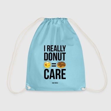 SmileyWorld Really Donut Care Humour Quote - Drawstring Bag