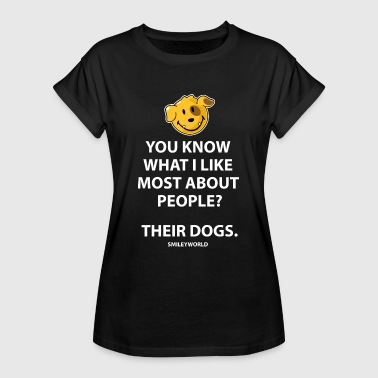 SmileyWorld I Like People's Dogs Quote - Maglietta ampia da donna
