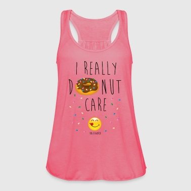 SmileyWorld Really Donut Care Humour Quote - Singlet for kvinner fra Bella