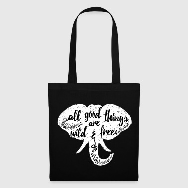 Animal Planet Elephant Typography Quote - Tote Bag