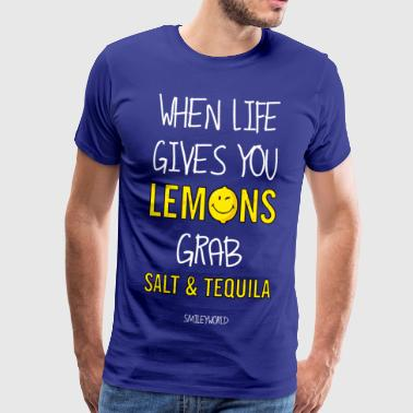SmileyWorld When Live Gives You Lemons Quote - Premium T-skjorte for menn