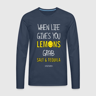 SmileyWorld Tequila Life Gives You Lemons - Männer Premium Langarmshirt