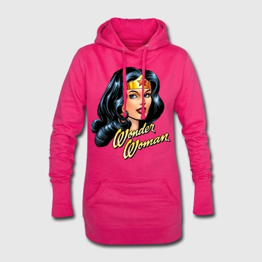 DC Comics Wonder Woman Portrait Visage - Sweat-shirt à capuche long Femme