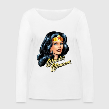 DC Comics Wonder Woman Close Up Portrait - Vrouwen bio shirt met lange mouwen van Stanley & Stella