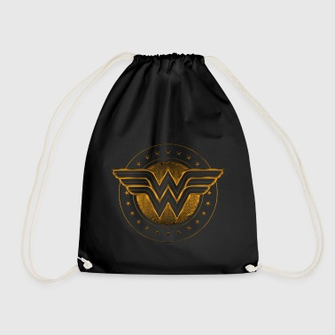 Wonder Woman Comic Logo gold - Turnbeutel