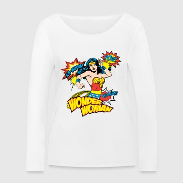 DC Comics Wonder Woman Retro Soundwords - Ekologisk långärmad T-shirt dam från Stanley & Stella