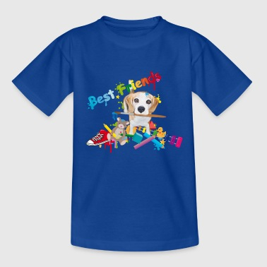 Beagle mit Pinsel -Beste Freunde- T-Shirts - Teenager T-Shirt