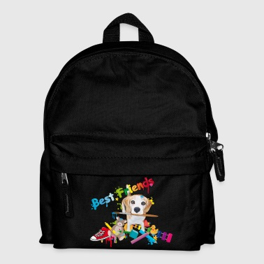 Beagle with Brush - Best Friends- Bags & Backpacks - Kids' Backpack