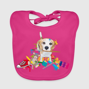 beagle with a brush Organic Products - Baby Organic Bib