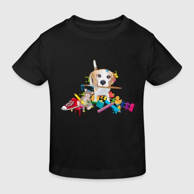 beagle with a brush Shirts - Kids' Organic T-shirt