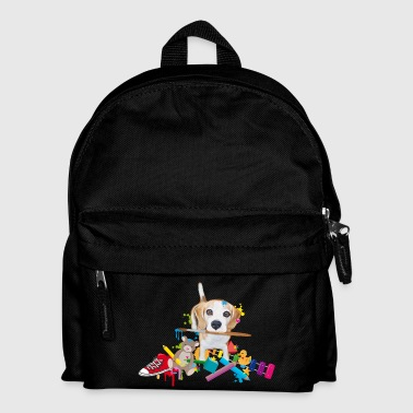 beagle with a brush Bags & Backpacks - Kids' Backpack