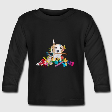 beagle with a brush Long Sleeve Shirts - Baby Long Sleeve T-Shirt