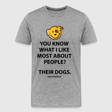 SmileyWorld I Like People's Dogs Quote - Herre premium T-shirt