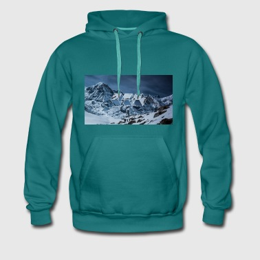 3 squares geometric snowy Sweaters - Mannen Premium hoodie