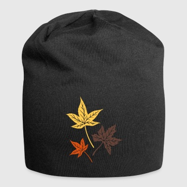 Leaves from the maple, Indian summer, Canada. Caps & Hats - Jersey Beanie