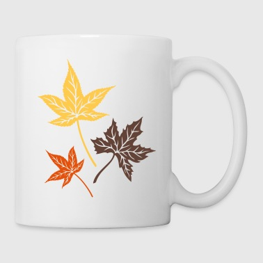 Leaves from the maple, Indian summer, Canada. Mugs & Drinkware - Mug